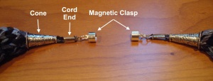 Findings used for the necklace closure
